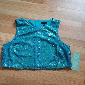 CITY TRIANGLES SHIMMER SLEEVELESS TOP SIZE 20